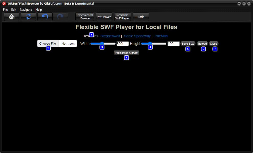Free Flash Browser - QikSurf 5